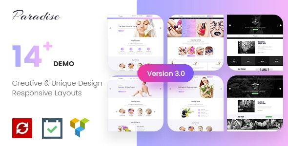 Paradise v3.0.1 – Multipurpose Spa & Beauty WordPress Theme