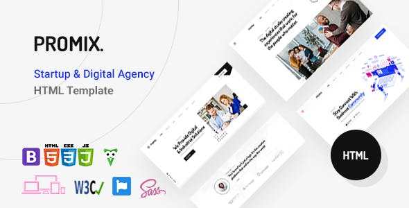 Promix – Digital Agency HTML5 Template