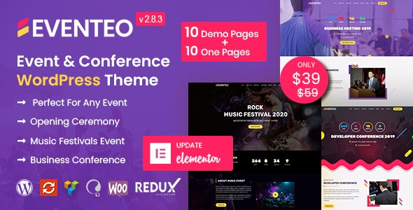 Eventeo - Event & Conference WordPress Theme - Events Entertainment