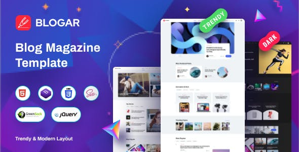 Blogar - Blog Magazine Template
