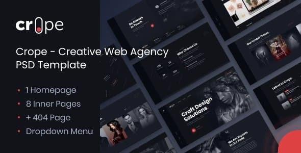 Crope - Creative Web Agency PSD Template - Photoshop UI Templates