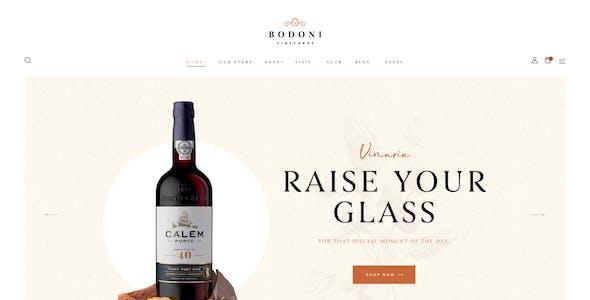 Bodoni - Wine Shop & Vineyard WooCommerce Theme