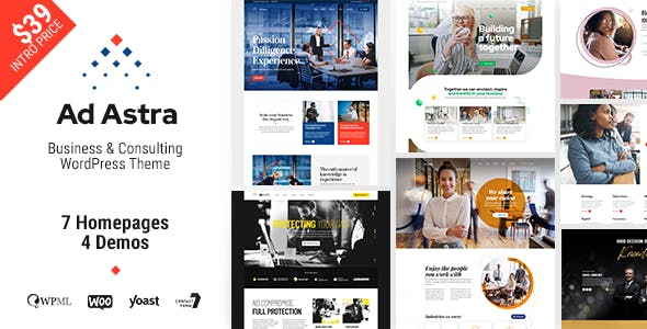 Ad Astra - Business & Consulting WordPress Theme