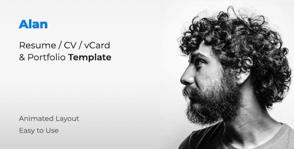 Alan - Personal Portfolio Template