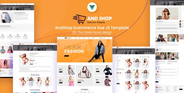 AndShop Ecommerce Vue JS Template - Shopping Retail