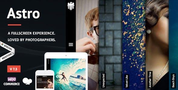 Astro - Photography WordPress Theme