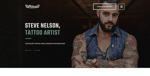 Nelson - Barbershop Hairdresser, Tattoo & Beauty Salon WordPress Theme