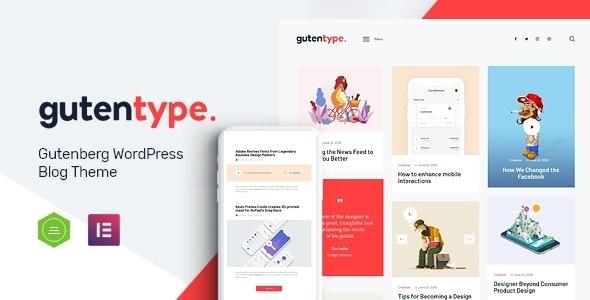 Gutentype v2.1 – 100% Gutenberg WordPress Theme