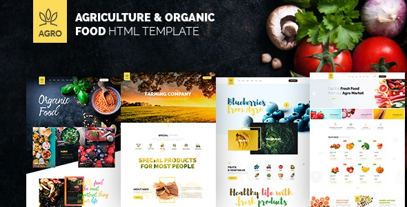 Agro - Agriculture & Organic Food HTML Template Pack - Food Retail