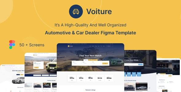 Voiture - Automotive & Car Dealer Figma Template - Corporate Figma