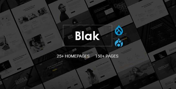 Blak - Responsive Multi-Purpose Drupal 9 Theme - Corporate Drupal