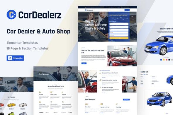 CarDealerz - Auto Dealer & Auto Shop Website Elementor Template Kit - Automotive & Transportation Elementor