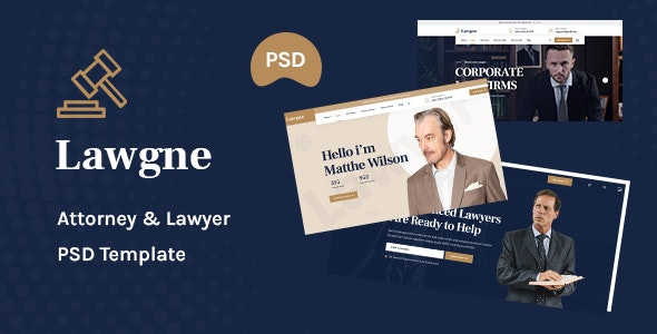 Lawgne - Attorney & Lawyers PSD Template - Business Corporate
