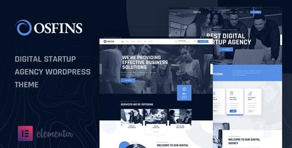 Osfins - Digital Startup Agency WordPress Theme - Business Corporate  10 Modern Startup Business WordPress Theme For Digital Entrepreneurs preview