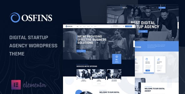 Osfins - Digital Startup Agency WordPress Theme