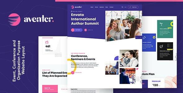 Aventer | Conferences & Events Joomla Template - Events Entertainment