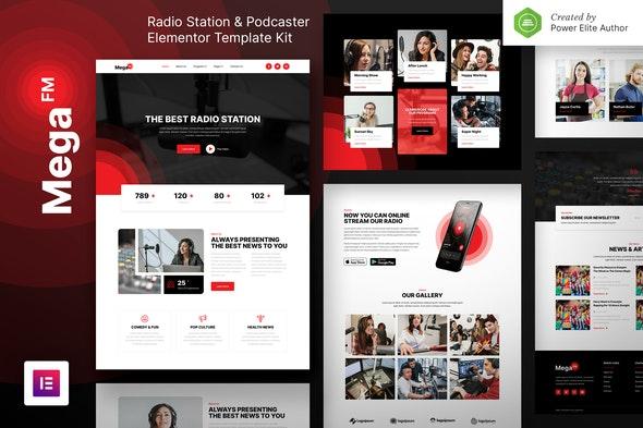 free download MegaFM – Radio Station & Podcaster Elementor Template Kit