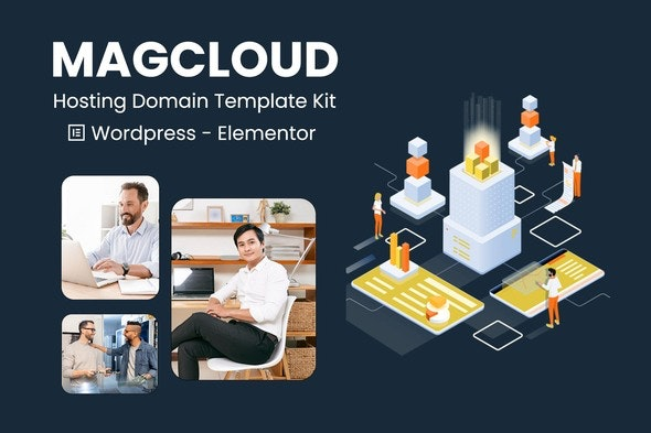Magcloud - Hosting Domain Elementor Template Kit - Business & Services Elementor