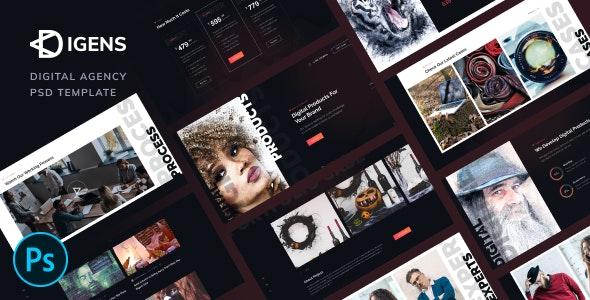 free download Digens - Digital Agency PSD Template