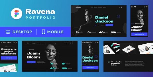 Ravena – Designer & Photographer Figma Portfolio Template - Portfolio Creative