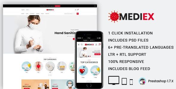 Mediex Responsive Prestashop Theme - Health & Beauty PrestaShop