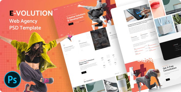 free download E-Volution - Web Agency PSD Template