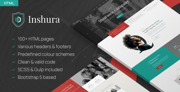 Inshura - Insurance Company HTML Template - Corporate Site Templates