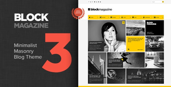 Block Magazine - Flat and Minimalist Blog Theme - Blog / Magazine WordPress