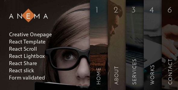 free download Anema - React OnePage Template