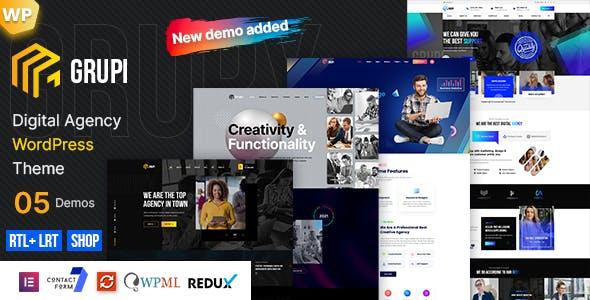 Grupi - Digital Agency WordPress + RTL