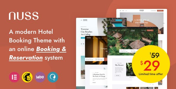 Nuss - Hotel Booking WordPress
