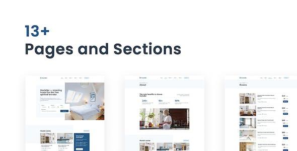 Hosteller – Hostel Booking Elementor Template Kit