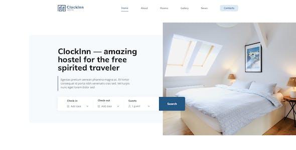 Clockinn – Hostel Template for XD