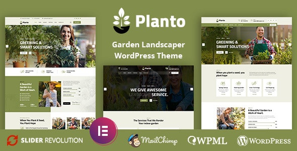 Planto - Landscape Gardening WordPress Theme - Business Corporate