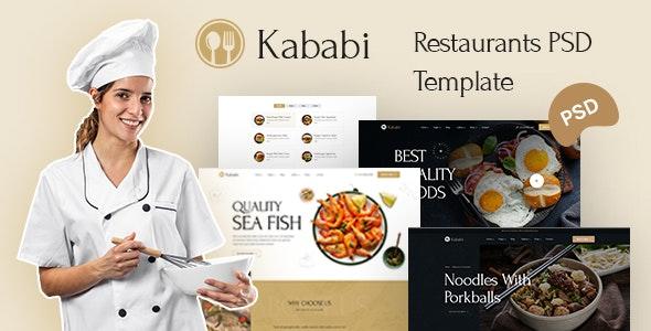 Kababi - Restaurant PSD Template - Food Retail