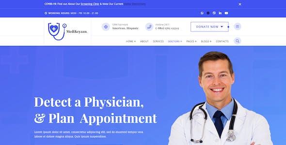 Medikeyaan - Medical & Health PSD Template