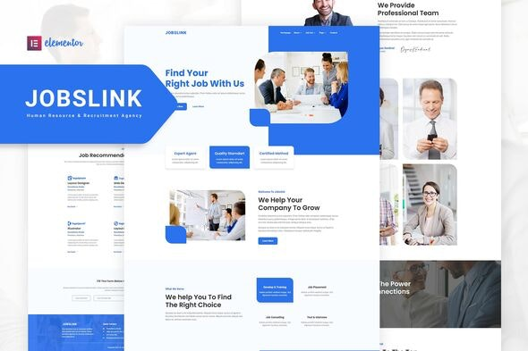 Jobslink – Human Resource & Recruitment Agency Elementor Template Kit - Business & Services Elementor