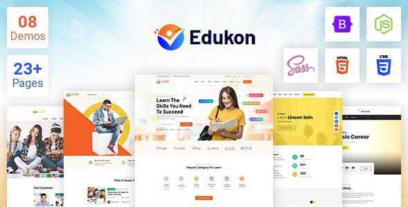 Edukon - Education and LMS HTML Template