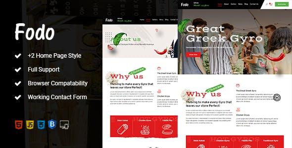 Fodo - Food & Bakery HTML Template