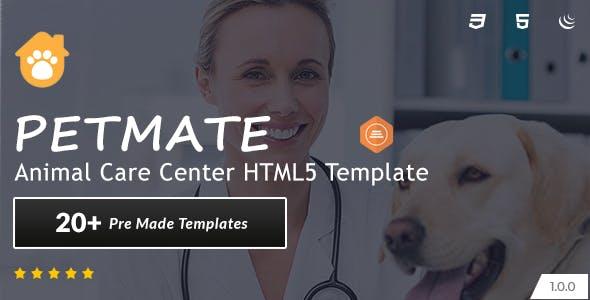 Petmate - Animal Care Center HTML5 Template
