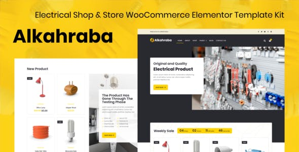 Alkahraba - Electrical Shop & WooCommerce Store Elementor Template Kit
