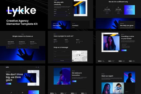 free download Lykke - Creative Agency Elementor Template Kit