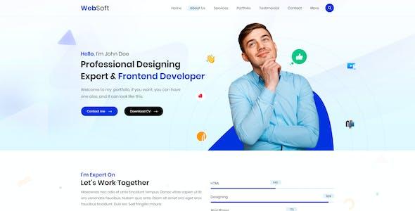WebSoft | Personal Portfolio PSD Template