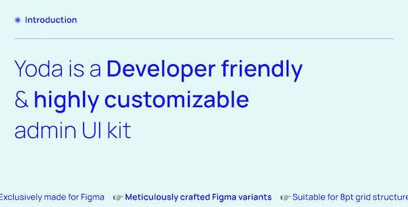 Yoda | Admin Dashboard & UI Kit + Charts Kit Figma Template