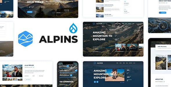Alpins - Mountain And Hiking Drupal 9 Theme