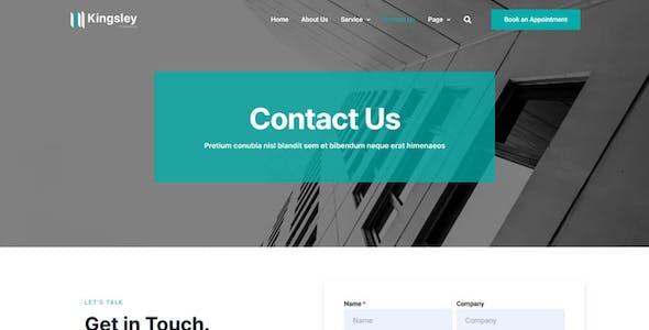 Kingsley - Finance & Investment Elementor Template Kit