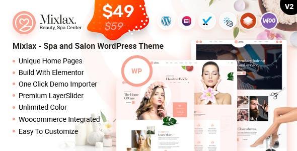 Mixlax - Spa Nail Beauty Hairdresser & Salon WordPress Theme