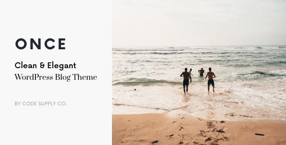 Once v1.1.9 – Clean & Elegant WordPress Blog Theme