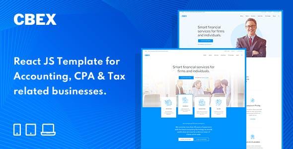 CBEX – Responsive Finance React JS Template