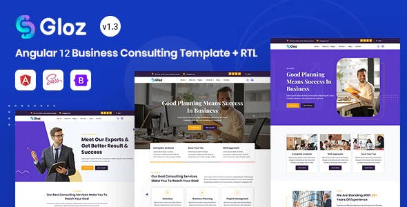 Angular 12 Business Consulting Template - Gloz